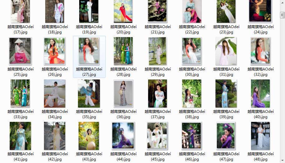 image.png K09133 中国 越南旗袍 古风中式 写真 女性服装绘画参考图片集5073p 图片素材